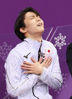Yuzuru Hanyu at Kiss & Cry || 2018 Winter Olympics