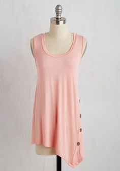 The Picture of Quaint Top in Carnation. Imagine this - soft breezes, radiant sunshine, and this pink tank top for an afternoon at the park! #red #modcloth