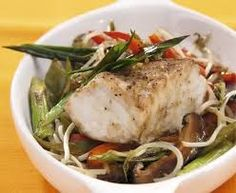 COMIDA CHINO - PERUANA.: PESCADO AL HORNO CON FREJOL CHINO / ,中国鱼烤豆 / Рыба,...