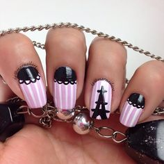 photo by marnailart Pink Nail Designs, Cool Nail Designs, Nails Design, Hair And Nails, My Nails, Paris Nails, Nail Place, Face Hair, Nail Arts