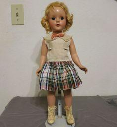 "Vintage 18"" Arranbee Nancy Lee Ice Skater Doll Hard Plastic #ArranbeeRB"