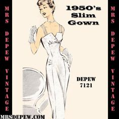 Vintage Sewing Pattern Cocktail or Wedding Dress in Any Size - PLUS Size Included - Depew 712 Dresses Elegant, Stunning Wedding Dresses, Rustic Wedding Dresses, Wedding Rustic, Wedding Dresses With Straps, Fit And Flare Wedding Dress, Modest Wedding Dresses, Vestidos Vintage, Vintage Dresses