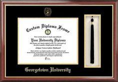 Georgetown University Hoyas Diploma Frame and Tassel Box