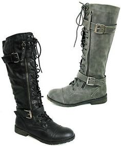 pictures of cute combat knee high boots  | KGrHqJ,!l4E+s559cF,BP7uMcmPew~~60_35.JPG