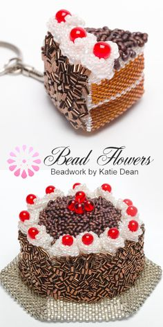 Sweet Treats book is full of yummy beading projects, like this chocolate gateau. Made with peyote stitch, this is the perfect beading pattern to use for a chocolate lover on any occasion!