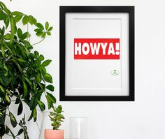 Howya Irish slang Irish Poster Irish Colloquialism by ThatsSoIrish