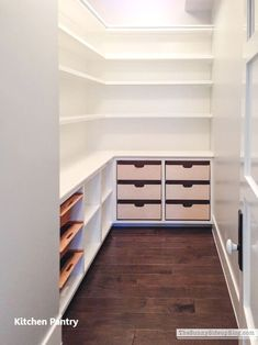 Deep Pantry Organization, Kitchen Pantry Storage, Pantry Room, Pantry Shelving, Kitchen Pantry Design, Pantry Closet, Kitchen Pantry Cabinets, Closet Storage, New Kitchen