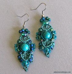 macrame | Macrame With Beads Earring: Going Beyond the Diamonds and Other Stone ...