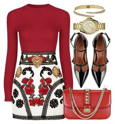 """RED"" by monmondefou ❤ liked on Polyvore featuring Dolce&Gabbana, Valentino, RED Valentino and red"