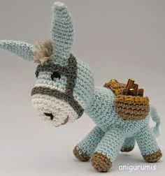 Amigurumi - Farm Animals : how to make donkey amigurumi Crochet Amigurumi Free Patterns, Crochet Dolls, Crochet Baby, Free Crochet, Articles Pour Enfants, Crochet Gifts, Amigurumi Doll, Crochet Animals, Crochet Projects