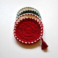 "Instagram@candypowder 크리스마스 st. 티코스터  Christmas style crochet coaster #크리스마스 #크리스마스선물 #christmas…"""