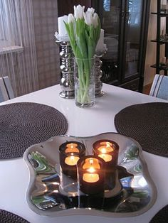 Candlestick Holders, Candlesticks, Centerpieces, Table Decorations, Candels, Scandinavian Style, Home Interior Design, Sweet Home, House Interiors