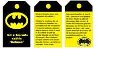 Papilles On/Off: Kit Sos Sablés Batman - cadeau gourmand - étiquettes à imprimer
