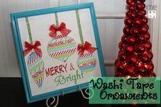 Washi Tape Ornaments via @tipjunkie
