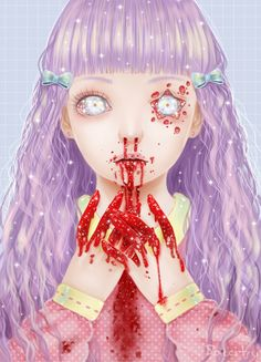 Glittery Blood by =Saccstry on deviantART