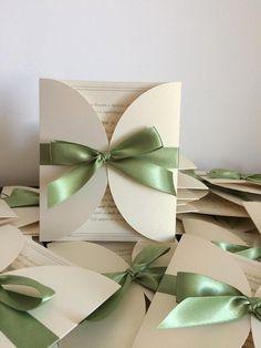 Handmade wedding invitations/ Elegant wedding by handmadebymaddy