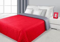 EVA elegáns piros-ezüst színú ágytakaró, mely kiváló minőségű anyagból készült. Az ágytakaró kétoldalas, mely az ellentétes oldalával is használható.Az ár az ágytakaróra vonatkozik párnahuzatok nélkül.