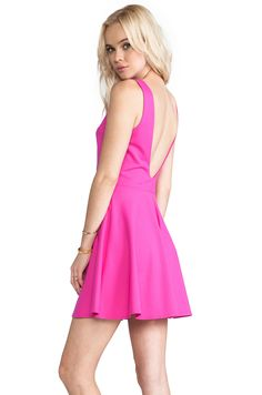 3a03f1ed Shop for Amanda Uprichard Backless Skater Dress in Hot Pink at REVOLVE. Free  day shipping and returns, 30 day price match guarantee.