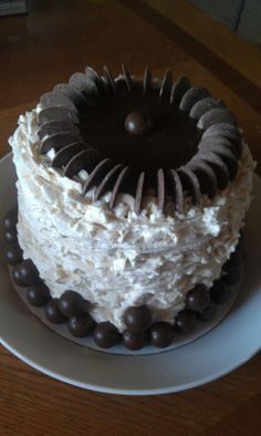Chocolate Kahlua Dream cake! If you are in the mood for a rich cake drenched in booze then this is your cake. It's not a good idea to serve this one around the kids.
