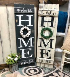 115 interesting spring porch sign decor ideas and designs for 2019 24 ~ Home Decor Signs, Easy Home Decor, Spring Home Decor, Spring Crafts, Home Crafts, Diy Crafts, Home Decoracion, Front Porch Signs, Diy Wood Signs