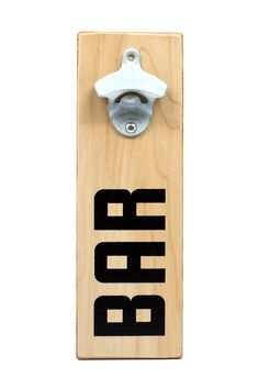 Need we say more? Add this bold bottle opener to your wall and let the spirits flow!  www.mooreaseal.com