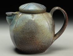 Stoneware Teapot, wood/soda/salt fired by David Voorhees.