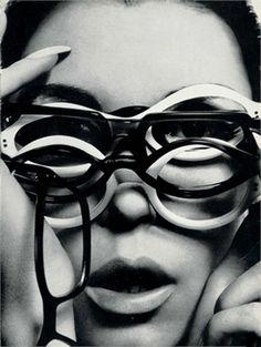 "phasesphrasesphotos: "" saloandseverine: "" Guy Bourdin for Vogue Paris January 1966 "" Has anyone seen my glasses? Guy Bourdin, Jean Shrimpton, Lauren Hutton, Catherine Deneuve, 1960s Fashion, Vintage Fashion, Yves Saint Laurent, Lunette Style, Jacqueline Bisset"
