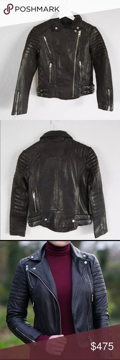 9a5b2ef4 All saints leather biker jacket moto black papin 0 Excellent condition!  Only worn a handful
