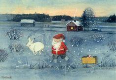 Leena Airikkala Gnomes, Enchanted, Santa, Painting, Painting Art, Paintings, Painted Canvas, Drawings