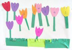 letters in the garden - simple alphabet activity for preschool.