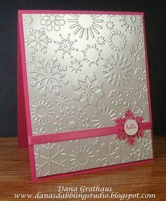 snowflake embossed pearlized metallic shimmery paper - bjl
