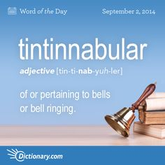 Dictionary.com's Word of the Day - tintinnabular - of or pertaining to bells or bell ringing.