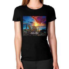 """Gazing at the Sea/ Malibu,"" Women's T-Shirt"
