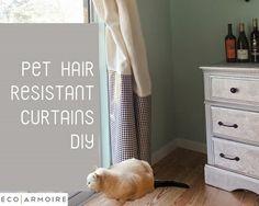 Tutorial: Pet hair resistant curtains