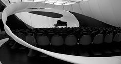 Zaha Hadid Architects designed this unique concert space for the Manchester Art Gallery that acoustically improves solo concerts of the works of Johann Sebastian Bach.