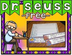 Dr. Seuss Freebie!Here is another freebie for centers during Read Across America Week. Students fix sentences common with Dr. Seuss. Another Dr. Seuss Freebie