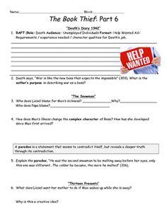 The Book Thief activities.pdf | Reading Strategies | Pinterest ...