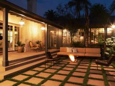 Creative Backyard Fire Pit Landscape Design with Lewin Wertheimer Stone Patio Concrete Patios, Concrete Backyard, Fire Pit Backyard, Backyard Patio, Backyard Ideas, Patio Ideas, Nice Backyard, Garden Ideas, Cozy Patio
