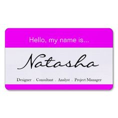 Red and White Corporate Name Tag - Business Card. This great business card design is available for customization. All text style, colors, sizes can be modified to fit your needs. Just click the image to learn more! Real Estate Business Cards, Professional Business Cards, Name Tag Design, Text Style, Name Tags, Business Card Design, Red And White, Pink White, Black