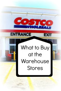 Love this list of what to buy at large warehouse stores! #costco #shopping #deals