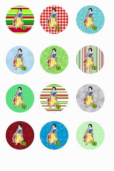 """Free Printable Collage Sheets: Free Bottle Cap - 1"""" Circle Collage Sheets"""