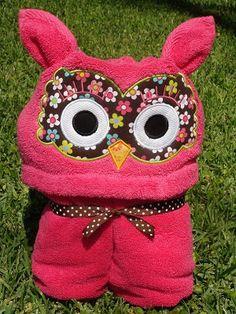 Owl Hooded Towel ... Bath Pool Wrap ... Hoot Hoot. $29.95, via Etsy.