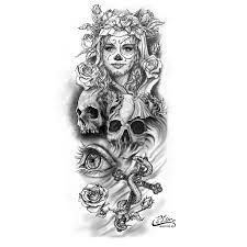 Image result for full sleeve tattoo stencils