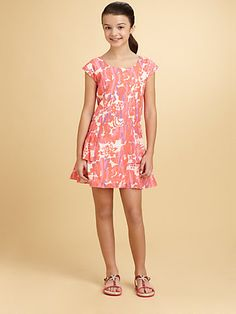 Spring 13'- DKNY - Girl's Natalie Floral Print Dress