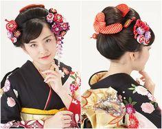 京都五条 着付けとヘアセット専門店『夢館Beauty(ゆめやかたビューティー)』日本髪、和髪、新日本髪ヘアもゆめやかたにお任せください。かんざしの種類も豊富です。