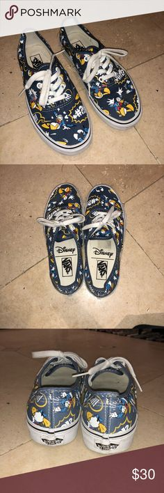 Vans Disney Donald Duck Worn once to Disneyland and never again. Still tons of life and you can't go wrong with a timeless Disney collection. Vans Shoes Sneakers