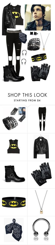 """""""Inspired by Andy Biersack"""" by crazydirectionergirl ❤ liked on Polyvore featuring Forever 21, MANGO, Valentino, Rebecca Minkoff, Levi's, Simon Frank, InspiredBy, BLACKVEILBRIDES and andybiersack"""
