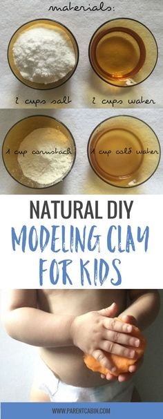 Try this easy and natural homemade modeling clay recipe for kids! Use non-toxic ingredients so you don't have to worry and have fun with your kids!