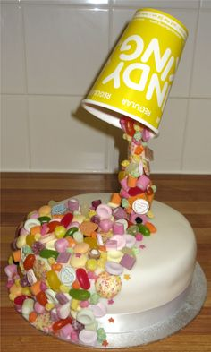 Anti Gravity Pick n Mix Cake