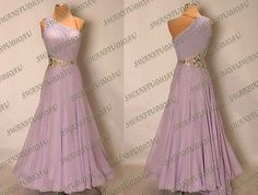 NEW NEED TO CUSTOMIZE LAVENDER GEORGETTE BALLROOM DANCE COMPETITION DRESS WB3017